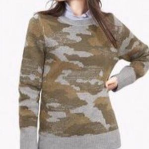 Banana Republic Mohair Wool Camo Print Sweater